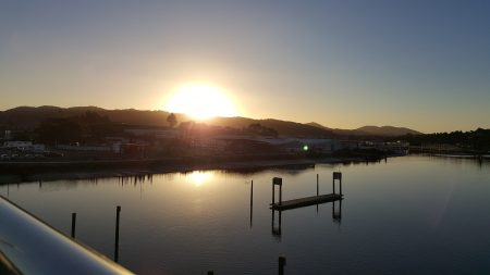 Sunset in Whangarei from Hatea loop