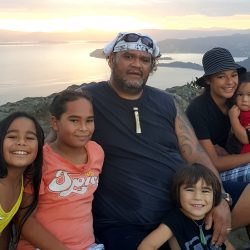 Harding family on Mt Manaia